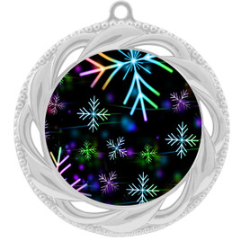 Snowflake theme medal..  Includes free engraving and neck ribbon.   BLsnow-938s