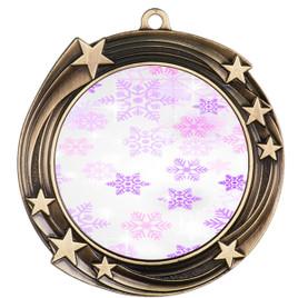 Snowflake theme medal..  Includes free engraving and neck ribbon.   Psnow-930