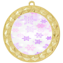 Snowflake theme medal..  Includes free engraving and neck ribbon.   Psnow-935g