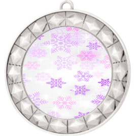 Snowflake theme medal..  Includes free engraving and neck ribbon.   Psnow-935s