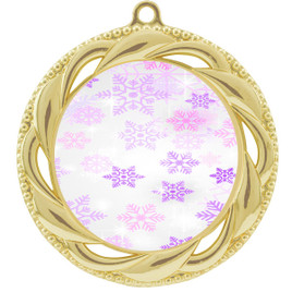 Snowflake theme medal..  Includes free engraving and neck ribbon.   Psnow-938g