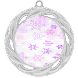 Snowflake theme medal..  Includes free engraving and neck ribbon.   Psnow-938s