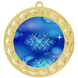 Snowflake theme medal..  Includes free engraving and neck ribbon.   DkBsnow-935g
