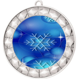 Snowflake theme medal..  Includes free engraving and neck ribbon.   DkBsnow-935s