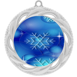 Snowflake theme medal..  Includes free engraving and neck ribbon.   DkBsnow-938s
