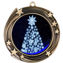 Snowflake Tree  theme medal..  Includes free engraving and neck ribbon.   snowtree-930