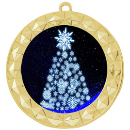 Snowflake Tree  theme medal..  Includes free engraving and neck ribbon.   snowtree-935g