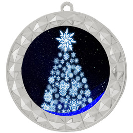 Snowflake Tree  theme medal..  Includes free engraving and neck ribbon.   snowtree-935s