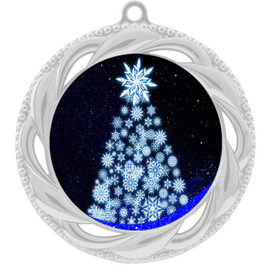 Snowflake Tree  theme medal..  Includes free engraving and neck ribbon.   snowtree-938s