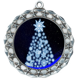 Snowflake Tree  theme medal..  Includes free engraving and neck ribbon.   snowtree-md40s