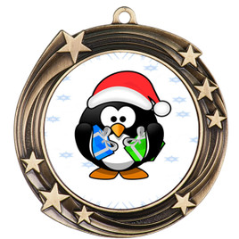 Penguin  theme medal..  Includes free engraving and neck ribbon.   penguin-930