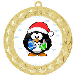 Penguin  theme medal..  Includes free engraving and neck ribbon.   penguin-935g