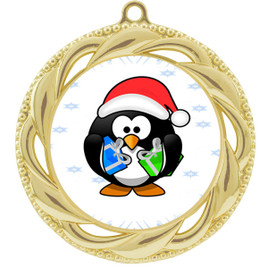 Penguin  theme medal..  Includes free engraving and neck ribbon.   penguin-938g