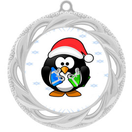 Penguin  theme medal..  Includes free engraving and neck ribbon.   penguin-938s