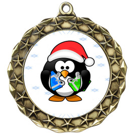 Penguin  theme medal..  Includes free engraving and neck ribbon.   penguin-md40g