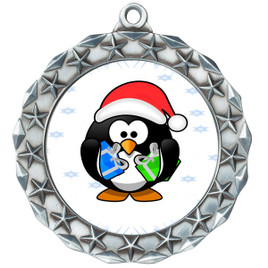 Penguin  theme medal..  Includes free engraving and neck ribbon.   penguin-md40s