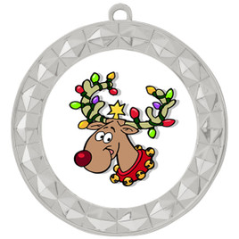 Reindeer  theme medal..  Includes free engraving and neck ribbon.   reindeer 935s