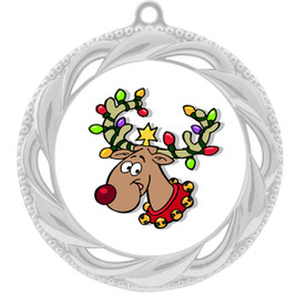 Reindeer  theme medal..  Includes free engraving and neck ribbon.   reindeer 938s