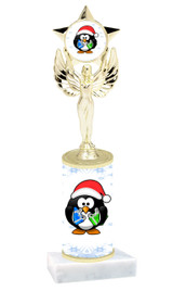 Penguin theme  trophy with choice of trophy height  with matching insert.  (mf1080