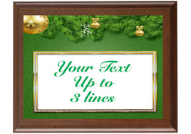 Christmas - Winter theme Custom Full Color Plaque.  Brown plaque with full color plate. 5 Plaques sizes available - Winter 004
