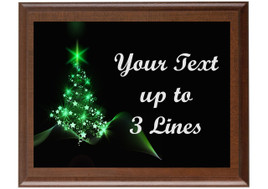 Christmas - Winter theme Custom Full Color Plaque.  Brown plaque with full color plate. 5 Plaques sizes available - Winter 005