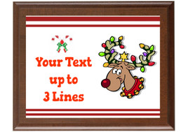 Christmas - Winter theme Custom Full Color Plaque.  Brown plaque with full color plate. 5 Plaques sizes available - Winter 009
