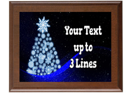 Christmas - Winter theme Custom Full Color Plaque.  Brown plaque with full color plate. 5 Plaques sizes available - Winter 012