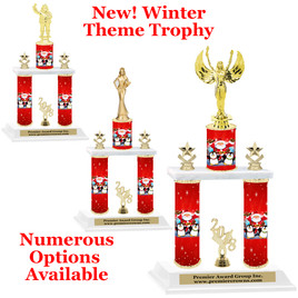 Winter theme  2-Column trophy.  Numerous trophy heights and figures available  (0012