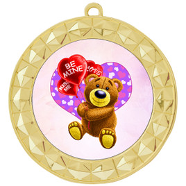 Valentine theme medal..  Includes free engraving and neck ribbon.   bear-935g