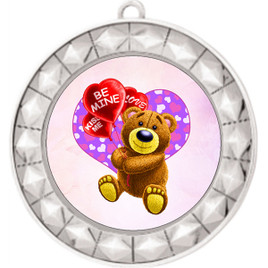 Valentine theme medal..  Includes free engraving and neck ribbon.   bear-935s