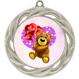 Valentine theme medal..  Includes free engraving and neck ribbon.   bear-938s