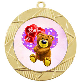 Valentine theme medal..  Includes free engraving and neck ribbon.   bear-940g
