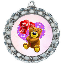 Valentine theme medal..  Includes free engraving and neck ribbon.   bear-md40s