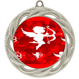 Valentine theme medal..  Includes free engraving and neck ribbon.   cupid - 938s