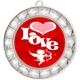 Valentine theme medal..  Includes free engraving and neck ribbon.   Love - 935s