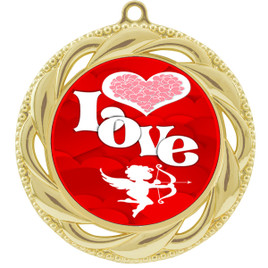 Valentine theme medal..  Includes free engraving and neck ribbon.   Love - 938g