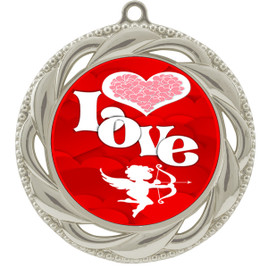Valentine theme medal..  Includes free engraving and neck ribbon.   Love - 938s