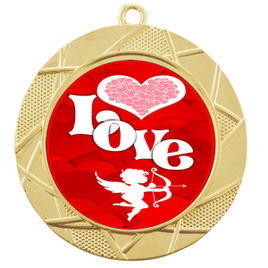 Valentine theme medal..  Includes free engraving and neck ribbon.   Love - 940g