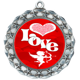 Valentine theme medal..  Includes free engraving and neck ribbon.   Love - md40s