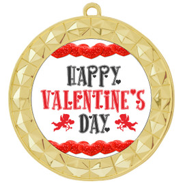 Valentine theme medal..  Includes free engraving and neck ribbon.   vday-935g