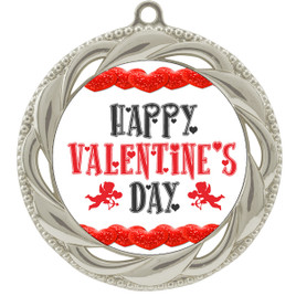 Valentine theme medal..  Includes free engraving and neck ribbon.   vday-938s