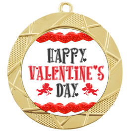 Valentine theme medal..  Includes free engraving and neck ribbon.   vday-940
