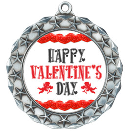 Valentine theme medal..  Includes free engraving and neck ribbon.   vday-md40s