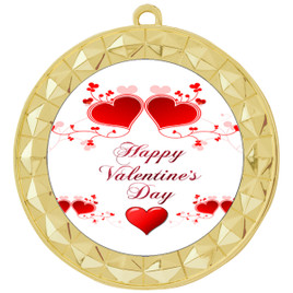 Valentine theme medal..  Includes free engraving and neck ribbon.   vday2-935g