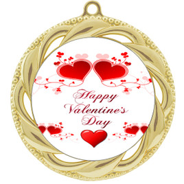 Valentine theme medal..  Includes free engraving and neck ribbon.   vday2-938g