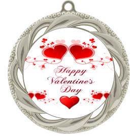 Valentine theme medal..  Includes free engraving and neck ribbon.   vday2-938s