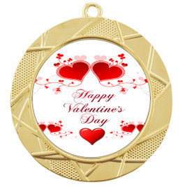 Valentine theme medal..  Includes free engraving and neck ribbon.   vday2-940