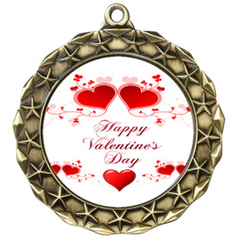 Valentine theme medal..  Includes free engraving and neck ribbon.   vday2-md40g