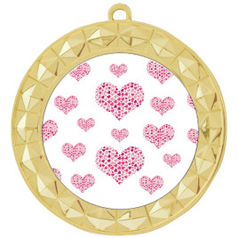 Valentine theme medal..  Includes free engraving and neck ribbon.   multi-935g
