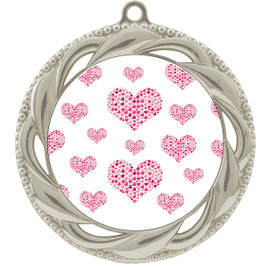 Valentine theme medal..  Includes free engraving and neck ribbon.   multi-938s